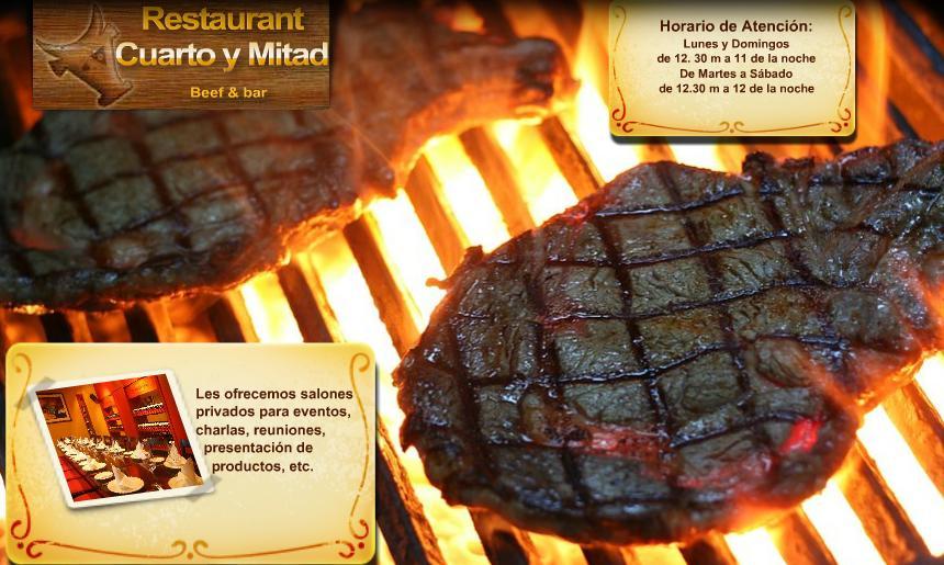 Cuarto y Mitad « Carnes Y Parrillas « RESTAURANTES PERU